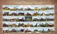 Indonesia Cultures Stamps 2020 MNH Rumah Traditional Architecture 34v M/S