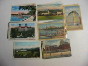 50 Older Hotel and Motel Postcard Lot 444
