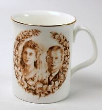Queen Elizabeth Prince Philip Golden 1997 Wedding Anniversary Royal Doulton Mug