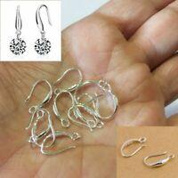 10 Pcs 925 Sterling Silver Plated Hooks Coil Ear Wire Earrings Leverback Earwire