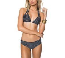 NWT Oneill Swimsuit Bikini 2 piece set Sz L Bi coastal Reversible