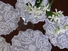 "Early Set 5 Elegant Unuset HndMd Italian Burato Lace Goblet Rounds~5-@ 6""~ ExCod"