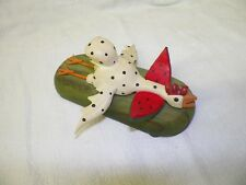 Vintage 1988 Dept 56 Bryan McNutts Watermelon Rooster Chicken The Morning After