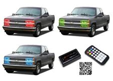 for Chevrolet C1500 88-98 RGB Multi Color Bluetooth LED Halo kit for Headlights