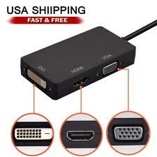 Mini Display Port DP To HDMI DVI VGA Adapter for Macbook Pro 1 2 3 4 Air Mac US