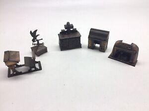 Lot Of Five Durham Industries Die Cast Metal Miniatures