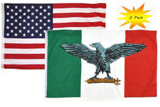 3x5 3'x5' Wholesale Set (2 Pack) USA American & Italy War Fascist Eagle Flag