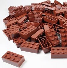 LEGO BRICKS 100 x BROWN 2x4 Pin - From Brand New Sets Sent in a Clear Sealed Bag
