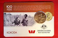 2016 Anzac To Afghanistan 25 Cent Australian Coin Carded Unc. Kokoda