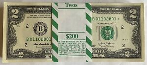 """(1) ⭐️STAR NOTE⭐️ $2 LOW SERIAL # VERY RARE """"B"""" NEW YORK 2013 Uncirc Consec Mint"""