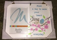 Find A Way To Make Your Heart Sing Everyday Photo Frame. Great Gift Idea! New!