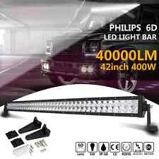 6D 42Inch 400W PHILIPS Led Work Light Bar Spot Flood Offroad 4WD ATV Truck Lamp