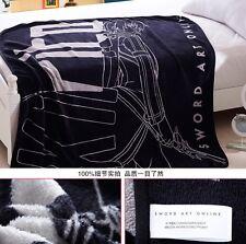 Anime SAO Sword Art Online Kirito Bed Sheet Coral Fleece Plush Throw Blanket #E3