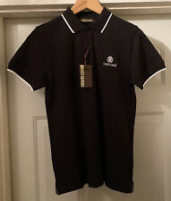 NWT Roberto Cavalli Men's Black Short Sleeve Polo Shirt Size S