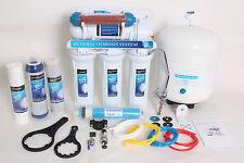 6 stufige Umkehrosmose Osmose Osmoseanlage RO50 -06 50GPD mit Aktivkeramik