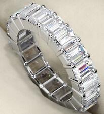 4.75 ct Emerald cut Diamond Ring Platinum Eternity Band Size 4.25 E F Vvs .25 ct