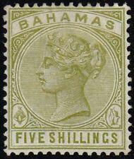 Bahamas 1884-90 5s. sage-green, MH (SG56)