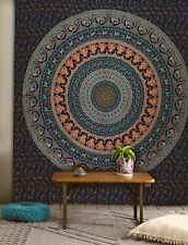 King or California king size Cotton mandala tapestry hippie wall hanging throw
