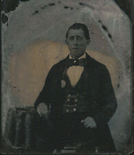 CIVIL WAR ERA 1/6 PLATE AMBROTYPE PHOTOGRAPH MAN IN SCOTTISH ATTIRE