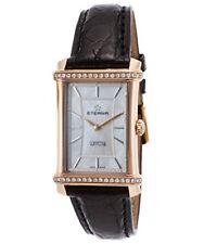 Eterna Women's Diamond Contessa Blk Crocodile White Mop Dial 18K Rose Gold Watch