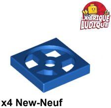 Lego - 4x turnable plaque tournante base 2x2 bleu/blue 3680 3679 NEUF