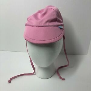Baby Girls Sun Hat Neck And Ear Flaps Tie Pink Light Weight Size 0-6 Months