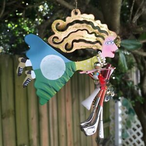 Silvestri Fanciful Flights Flying Christmas Golfer Ornament K Rossi Mother's Day