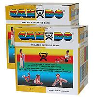 CanDo Latex Free Exercise Band - 100 yard (4 x 25 yard rolls) - Gold- xxx-heavy