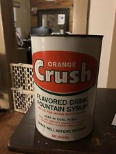 Vintage Orange Crush Fountain Syrup Gallon Mix Can