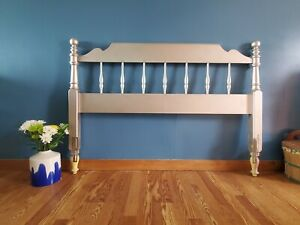 """Ethan Allen rose gold painted full size 57"""" headboard"""