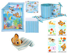 Disney Nemo 6 piece Baby  Crib bedding set bundle W Bumper