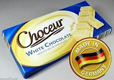 (3X) Choceur Smooth White Chocolate Bars (Made In Germany) 1/2 lb Bars (3 Pack)