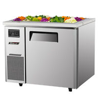 "Turbo Air JBT-36-N 36"" Refrigerated Buffet Display Table Stainless With Casters"