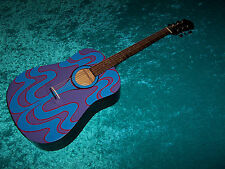 Psychedelic Epiphone acoustic guitar hand painted 60's 67 design