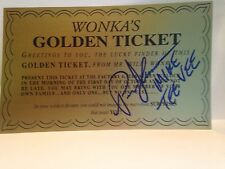 PARIS THEMMEM MIKE TEE VEE  FROM WILLY WONKA  signed autograph golden ticket