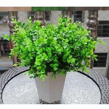 Lots 7-Branches Artificial Fake Plastic Eucalyptus Plant Flowers Office Decor KJ