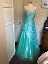 Prom Frock Peppermint Green Special Occasion Wedding Bridesmaid 10-12 NWOT