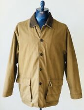 Levi Strauss Brown Cotton Jacket Coat Removable Wool Liner Mens Size XL EUC