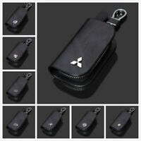 High Quality Leather Car Key Keychain Fob Case Holder Zipper Cover For All Car