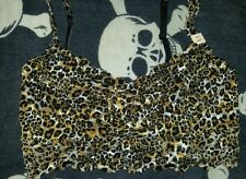 La Senza bralette top bra cheetah small s black tan lace
