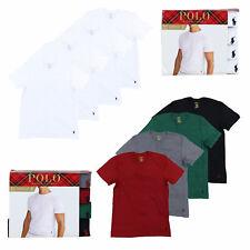 Polo Ralph Lauren мужские 4 упаковка классический круглый вырез майки пони с логотипом футболки