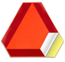 Deflecto Slow Moving Vehicle Sign Reflective Tape Safety Triangle Orange Sticker