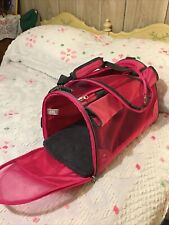 Good 2 Go Dog Carrier Small Dog Or Cat Used One Time Red Collapsible