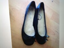 Ladies/ Girls Mikeluff Black Flat Shoes, Size 4, New Shop Clearance