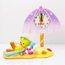[Ship to Worldwide] Warner Bros Tweety Bird Beach Clock Ceramic