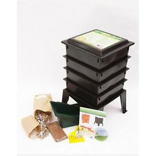 4 Tray Worm Factory® 360 Composter COMPOSTING Compost BIN Farm BLACK + Kit