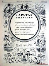 1937 Tobacco Advert Wills's Cigarettes 'Capstan Shanties XI' - Cartoon Print Ad