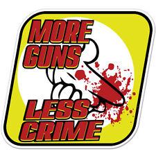 """More Guns Less Crime Mickey Air Gun car bumper sticker decal 4"""" x 4"""""""