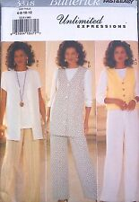NEW+ VINTAGE CLASSIC BUTTERICK SEPARATES SEWING PATTERN 3318- SIZES 6-12