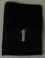 SIZE 3XL 333 PCS EACH 1000 PCS BLACK WOVEN CLOTHING LABELS 2XL 4XL
